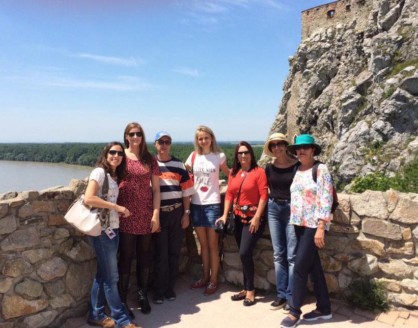 Brazil visiting Devin Castle